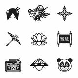 Vector China icon set Stock Photography