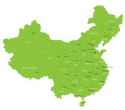 Vector China map Royalty Free Stock Image