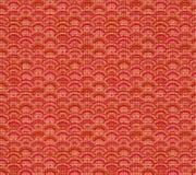 Vector Chinees Patroon, Naadloze Achtergrond, Linnen Rode Textiel stock illustratie