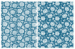 Vector Chinese floral pattern Royalty Free Stock Photo
