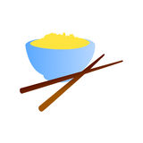 Vector chinese food. Vector illustration of chinese food cup Royalty Free Stock Image