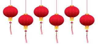 Vector chinese hanging lanterns Stock Photography