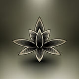Vector chinese lotus blossom. EPS 10 file available vector illustration