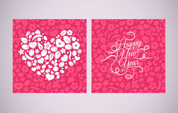 Vector Chinese New Year background, seamless pattern design with hearts. Stock Photo