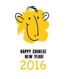 Vector chinese new year postcard template. vector illustration