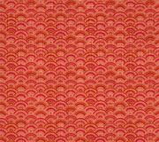Vector Chinese Pattern, Seamless Background, Linen Red Textile. stock illustration