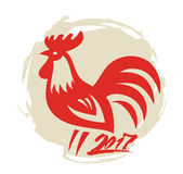 Vector Chinese rooster Royalty Free Stock Image