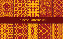 Vector Chinese traditional pattern collection Royalty Free Stock Photography