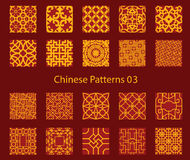 Vector Chinese traditional pattern collection. Vector illustration Royalty Free Stock Images