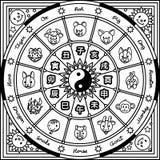 Vector chinese zodiac circle vector illustration