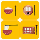 Vector chino de la comida Foto de archivo libre de regalías