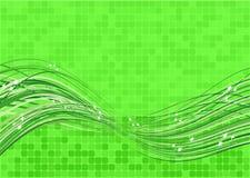 Vector chispeante verde del flujo Fotos de archivo libres de regalías
