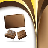 Vector chocolate background. Clip-art Royalty Free Stock Photos