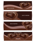 Vector Chocolate Background Set. Dessert Illustration. Royalty Free Stock Photo