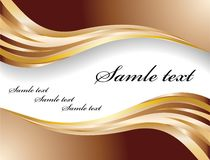 Vector chocolate banner Royalty Free Stock Photos