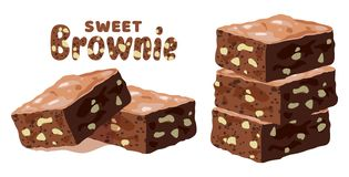 Free Vector Chocolate Brownies Royalty Free Stock Photography - 147730557