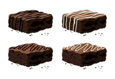 Free Vector Chocolate Brownies Royalty Free Stock Photo - 155241735