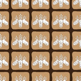 Vector chocolate cacao pattern bean, cocoa, seed. Design box and packing for restaurant, shop, confectionery, culinary Stock Photos