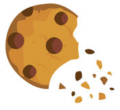 Vector Chocolate Chip Cookie stock illustration