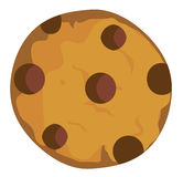 Vector Chocolate Chip Cookie. Vector illustration of a chocolate chip cookie vector illustration