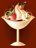 Vector chocolate ice-cream Royalty Free Stock Photos