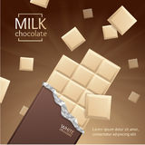 Vector Chocolate Package Bar Blank  Royalty Free Stock Photography