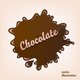 Vector chocolate splash isolated Stock Photography