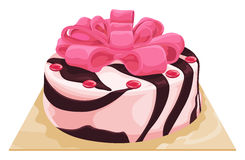 Vector of chocolate vanilla cake. Royalty Free Stock Photos