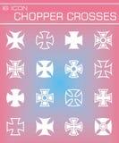 Vector Chopper crosses icon set Stock Image