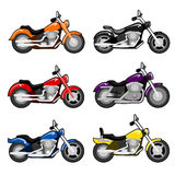 Vector chopper motorcycle set Royalty Free Stock Photography