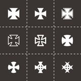 Vector choppers crosses icon set. On black background Stock Photography