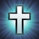 Vector Christelijk Kruis Royalty-vrije Stock Afbeeldingen