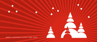 Vector christmas. Merry Christmas & Happy New Year! greeting card Stock Photos