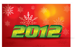Vector Christmas 2012. Vector Illustrator, be able to scale to any size without loss resolution stock illustration
