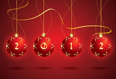 Vector Christmas 2012 ball Stock Images