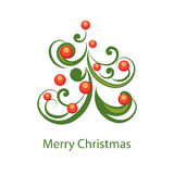 Vector Christmas abstract background Royalty Free Stock Photography