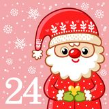 Vector christmas advent calendar in childrens style. Stock Photos