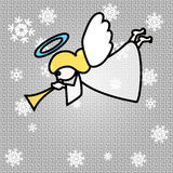 Vector Christmas Angel. Vector Christmas Background with Trumpeting Angel Royalty Free Stock Images