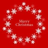 Vector Christmas Background. Vector snowflake Christmas wreath background Stock Image