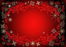 Vector christmas background. Background with snowflakes and decoration for your design vector illustration