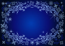 Vector christmas background. Background with snowflakes and decoration for your design stock illustration