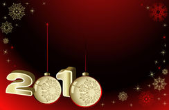 Vector christmas background. Background with snowflakes and decoration for your design royalty free illustration