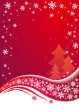 Vector Christmas background. Red Christmas background. EPS8 Royalty Free Stock Photo