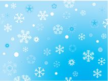 Vector christmas background. Vectro christmas background with snowflakes Stock Photos