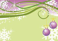 Vector christmas background with balls Royalty Free Stock Image