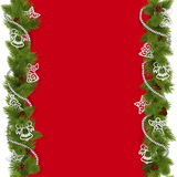 Vector Christmas Background with Beads Stock Photos