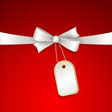 Vector christmas background with  bow Royalty Free Stock Photo