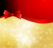 Vector christmas background with  bow Stock Images
