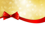 Vector christmas background with  bow Royalty Free Stock Photos