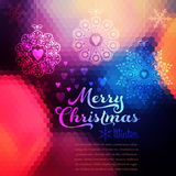 Vector Christmas background. Christmas ball. Retro backdrop. Blu Royalty Free Stock Images